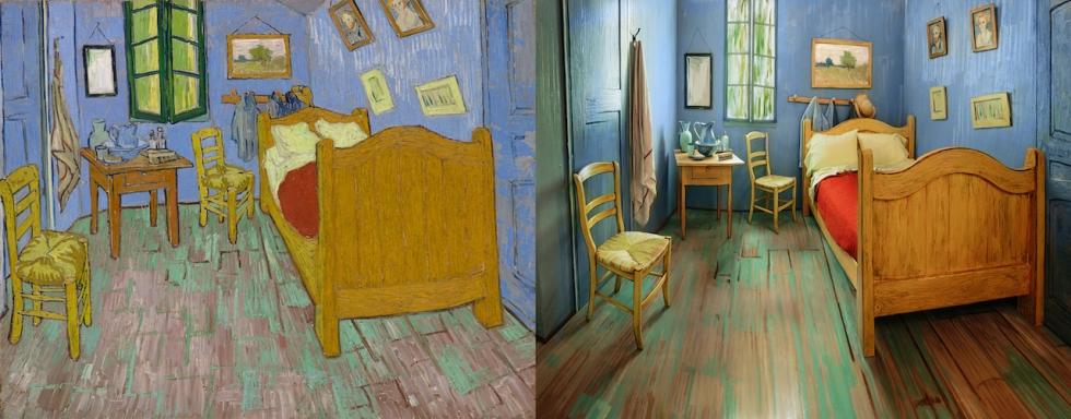 Schlafzimmer echt vs. Bild
